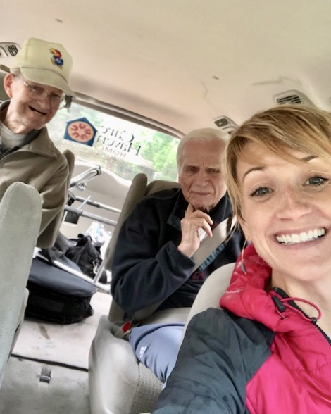 On the go with residents, important part of the Activities Director job, memory care assisted living